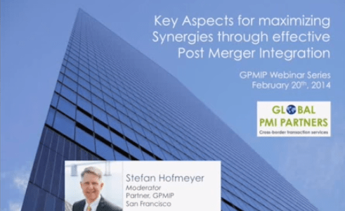 Available for Viewing: Maximizing Synergies Through Effective Post Merger Integration 1