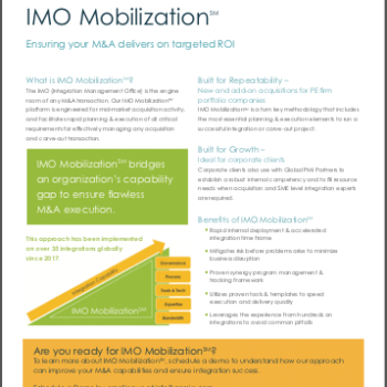 IMO Mobilization<span>℠</span> Brochure 2